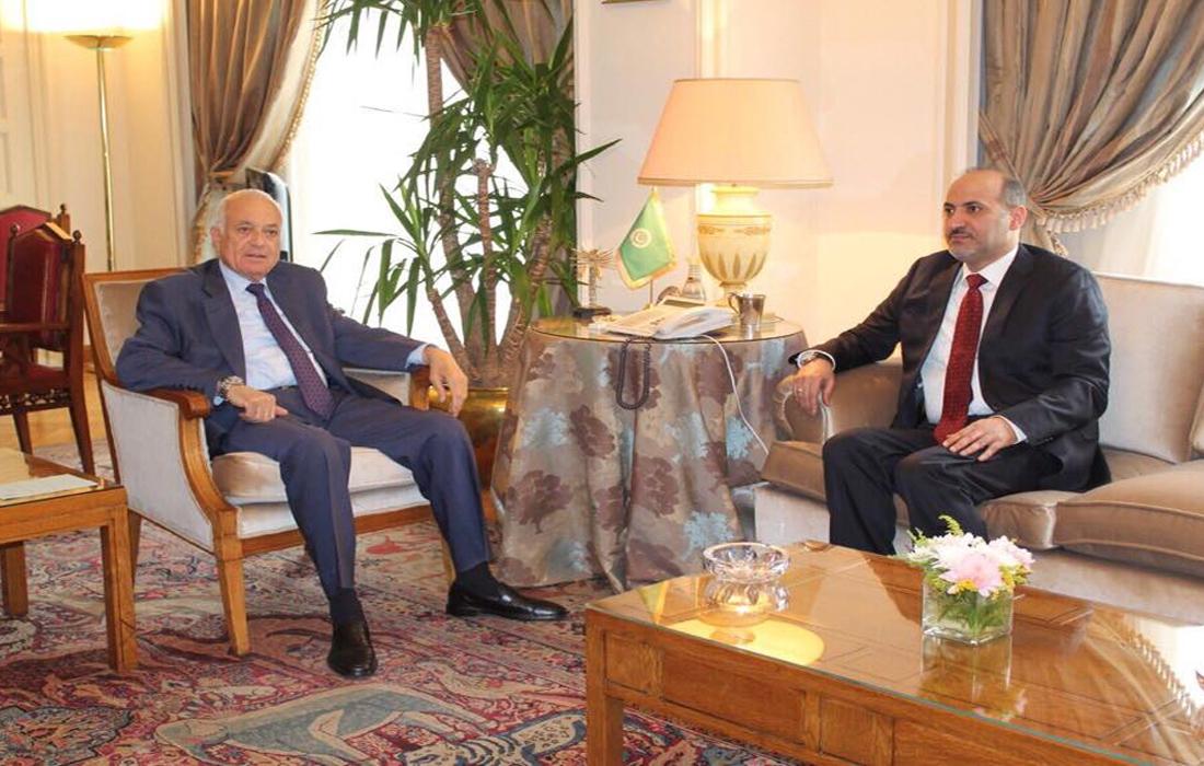 أحمد الجربا يلتقي الدكتور  نبيل العربي الأمين العام لجامعة الدول العربية