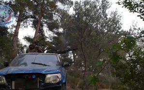 سيارة تابعة لفصائل المعارضة في ريف اللاذفية