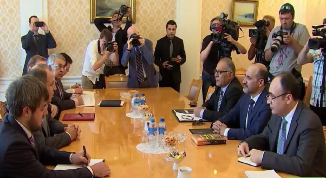 أحمد الجربا يلتقي سيرغي لافروف في موسكو