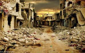 حلث آثار الدمار والقصف هولوكوست حلب