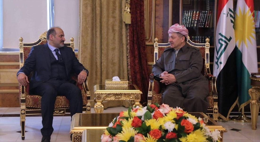 الرئيس مسعود البرزاني يلتقي أحمد الجربا في أربيل