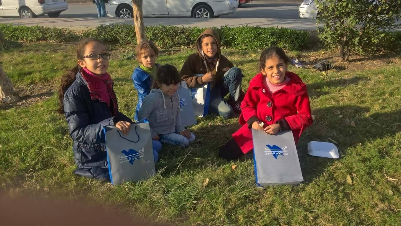 أطفال سوريون مشاركون في اليوم العالمي للطفل بالقاهرة