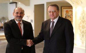 الجربا يبحث مع بوغدانوف جهود الحل السياسي في سوريا