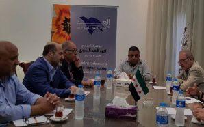 أحمد الجربا يبحث مع حسن عبد العظيم ترتيبات مؤتمر الرياض…