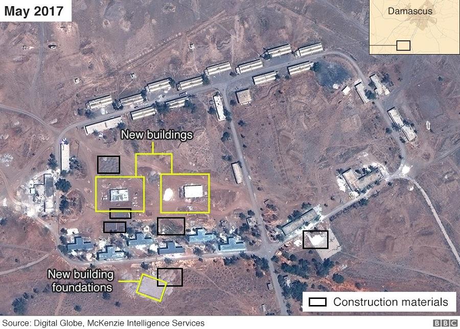 القاعدة الإيرانية في الكسوة أيار 2017