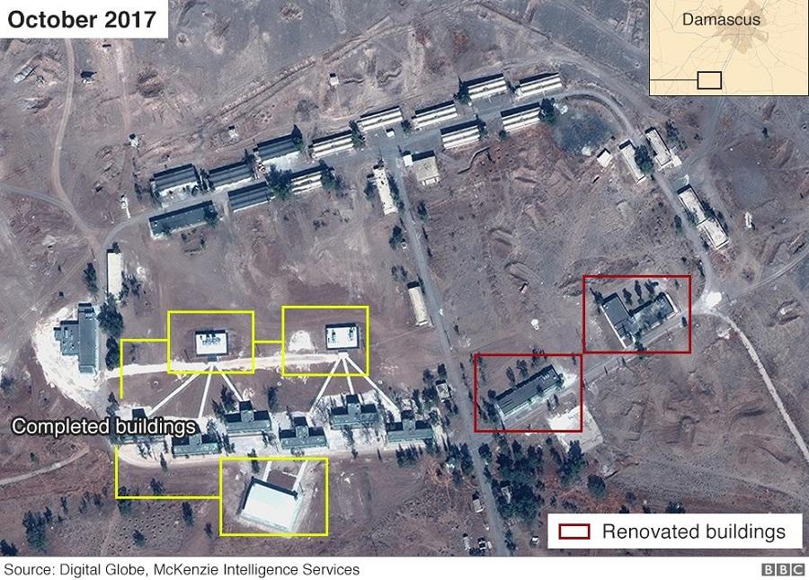 القاعدة الإيرانية في الكسوة تشرين الأول 2017