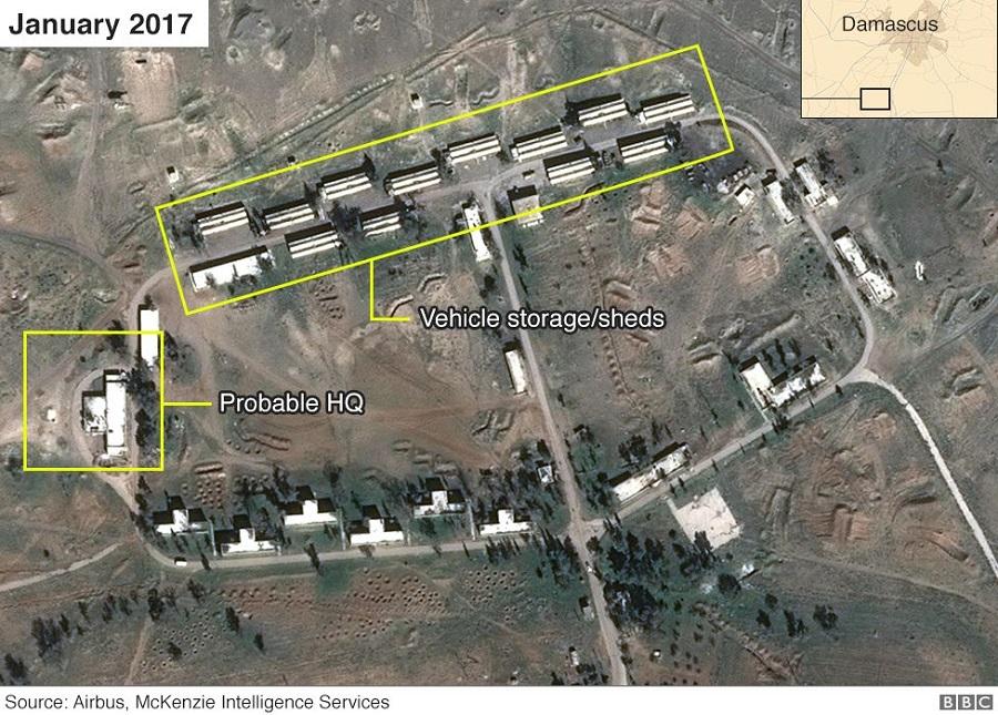 القاعدة الإيرانية في الكسوة كانون الثاني 2017