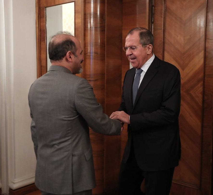 الوزير سيرغي لافروف مرحبا برئيس تيار الغد السوري أحمد الجربا