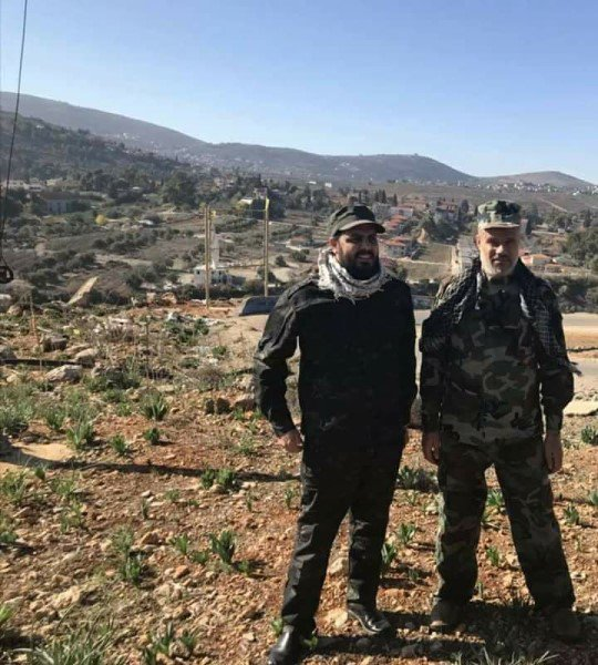 قيس الخزعلي في لبنان قرب الحدود السورية اللبنانية