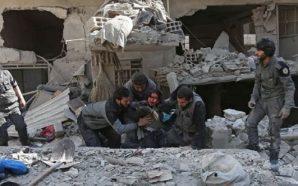 """""""حياة الأقبية"""" آخر ملاذات سكان الغوطة الشرقية لتجنب حملة الإبادة…"""