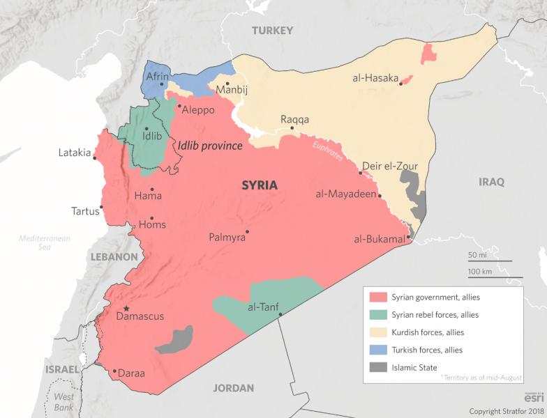 توزيعات السيطرة العسكرية في سوريا