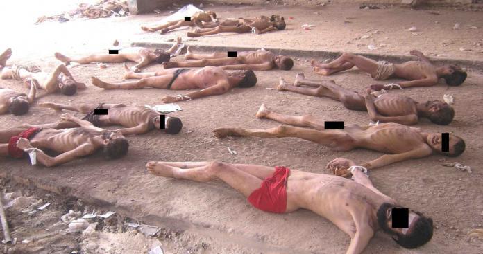 إحدى الصور ال55000 التي سربها قيصر عن هولوكوست الأسد في سوريا
