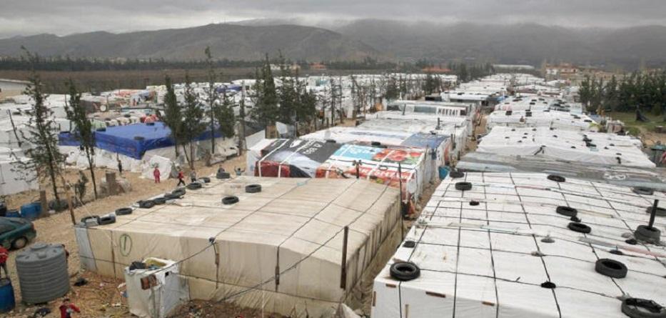 أحد مخيمات اللاجئين السوريين في لبنان