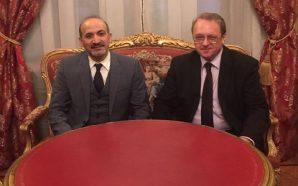 الجربا يجري مشاورات مع بوغدانوف خلال زيارته الرسمية إلى موسكو
