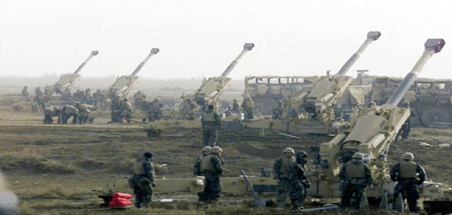 فرقة مدفعية تابعة للجيش التركي قرب الحدود السورية - 15 تموز 2019