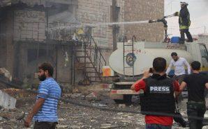 مقتل وإصابة عشرات المدنيين في إدلب وحماة مع استمرار المواجهات…