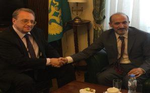 الجربا يبحث مع بوغدانوف تطورات الأوضاع وسبل الحل في سوريا
