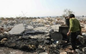 حطام منزل ابي بكر البغدادي في بلدة باريشا بريف إدلب الشمالي - 27 تشرين الأول 2019