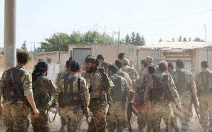 عناصر من الجيش الوطني السوري في مدينة رأس العين - 20 تشرين الأول 2019
