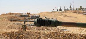 مرابض مدفعية تابعة للجيش التركي قبالة الحدود السورية - 18 تشرين الأول 2019
