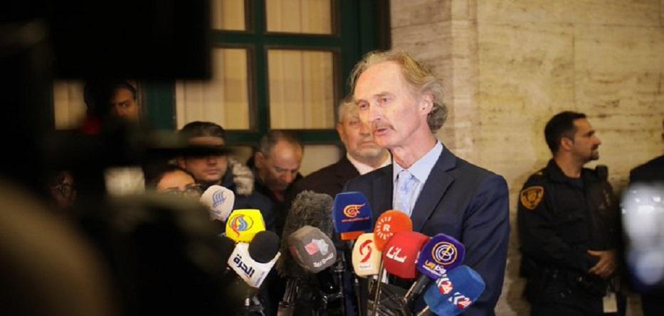 الموفد الأممي إلى سوريا غيربيدرسون عقب اجتماع للجنة الدستورية - 1 تشرين الثاني 2019