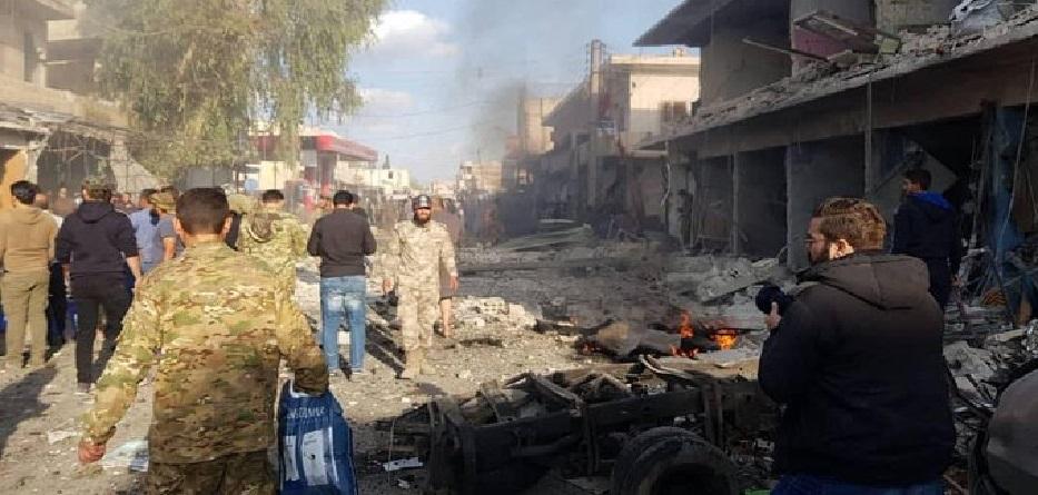 انفجار مفخخة في مدينة تل ابيض - 2 تشرين الثاني 2019