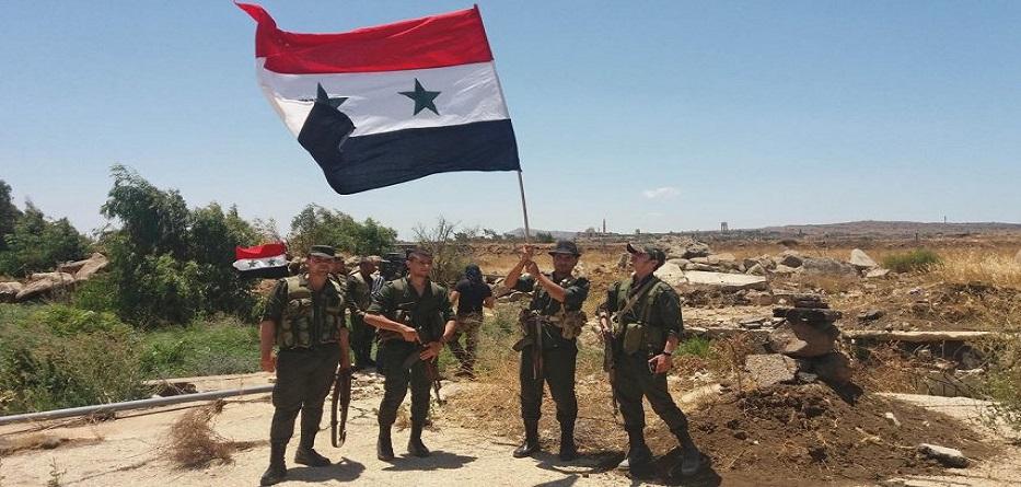 مقاتلو الجيش العري السوري في بلدة تل تمر بريف الحسكة - تشرين الأول 2019