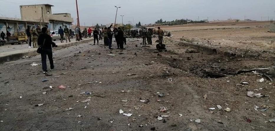 انفجار سيارة مفخخة في بلدة عين العروس بريف الرقة الشمالي - 30 تشرين الثاني 2019