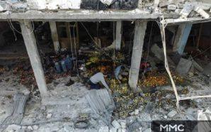طيران النظام يستهدف أسواق الهال بمحافظة إدلب والضحايا بالعشرات
