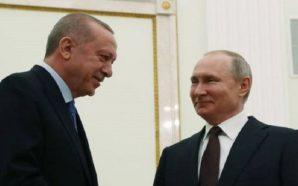 الرئيسان الروسي فلاديمير بوتين والتركي رجب طيب أردوغان خلال لقائهما في موسكو- 5 آذار 2020