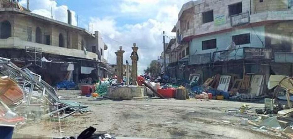عصابات موالية لنظام الأسد تواصل تعفيش مدينة كفرنبل بريف إدلب - 24 آذار 2020