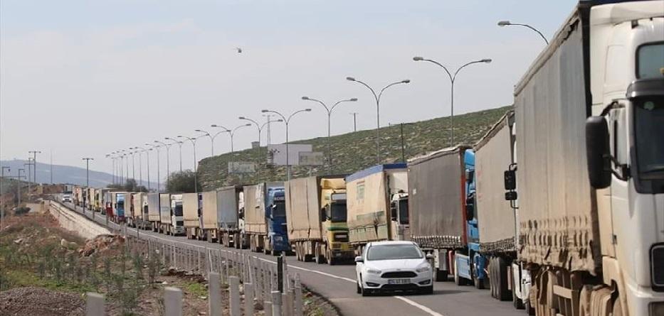 53 شاحنة مساعدات أممية تعبر الحدود التركية السورية باتجاه إدلب - 5 آذار 2020