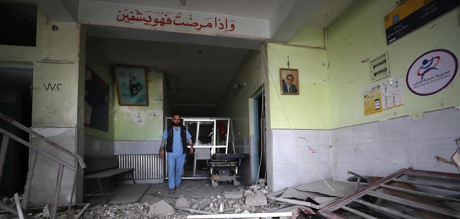 آثار الدمار في مشفى بريف إدلب جراء غارة جوية - 2019
