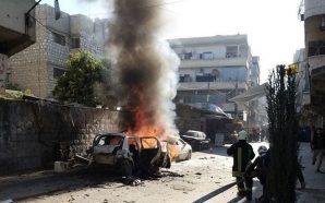 انفجار عبوة ناسفة بسيارة عضو بهيئة تحرير الشام بمدينة كفرتخاريم بريف إدلب - 14 نيسان 2020