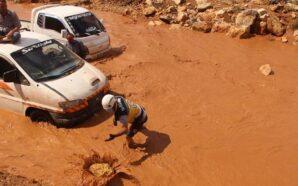 ضحايا وأضرار تطال عشرات المخيمات جراء عواصف مطرية في إدلب