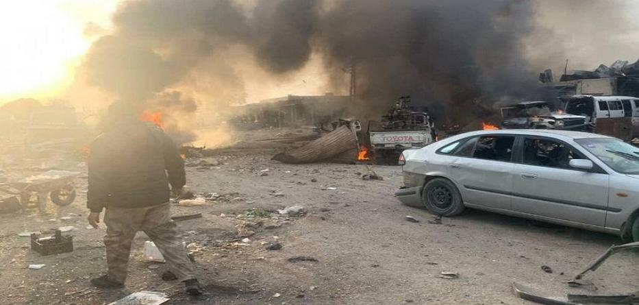 انفجار سيارة مفخخة في بلدة تل حلف بريف الحسكة - 23 حزيران 2020