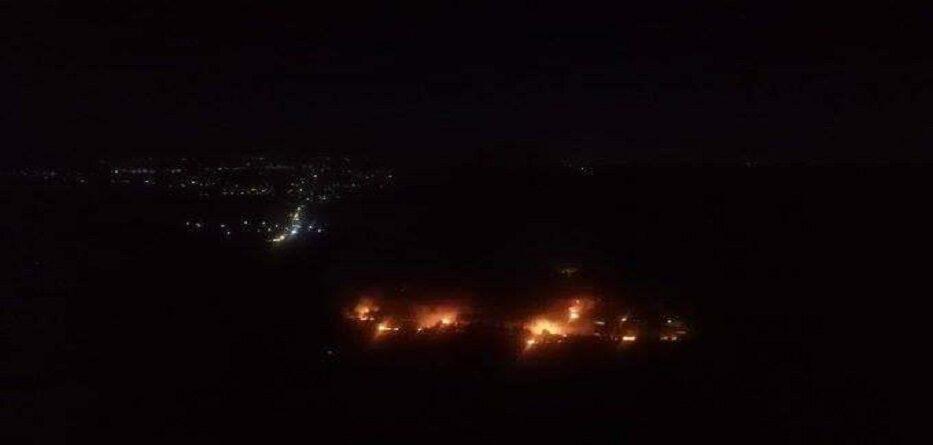 مخازن الأسلحة الإيرانية في مصياف بعد استهدافها بصواريخ إسرائيلية - 5 حزيران 2020