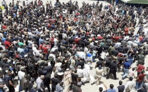 مظاهرة حاشدة تهتف ضد النظام ومليشيات إيران في بصرى الشام