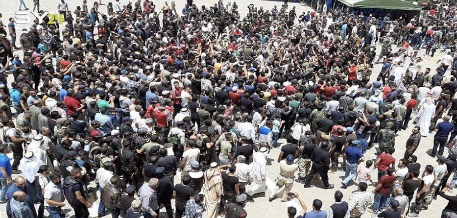 مظاهرة حاشدة ضد النظام في مدينة بصرى الشام - 21 حزيران 2020