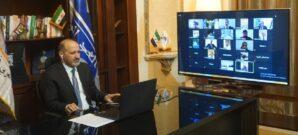 السيد أحمد الجربا خلال مشاركته في الاجتماع التأسيسي لجبهة الحرية والسلام