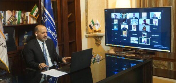 السيد أحمد الجربا خلال مشاركته في الاجتماع التأسيسي لجبهة السلام والحرية