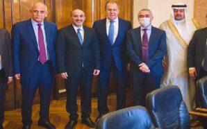 """لافروف يستقبل وفد """"جبهة السلام والحرية"""" في موسكو بقيادة أحمد…"""
