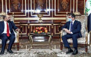 رئيس جبهة السلام والحرية أحمد الجربا يلتقي رئيس حكومة إقليم…